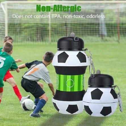Ausziehbare Flasche im Fußball Design